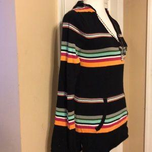 Foxy hooded, striped sweater
